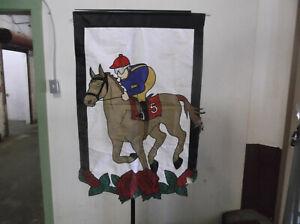 Horse Racing Garden Flag
