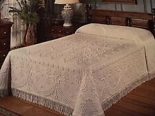 """Bates of Maine America's First Bedspread 100% Cotton Snow White 80X110"""" Twin"""