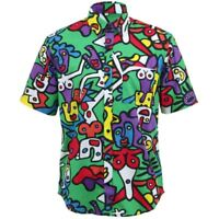Mens Shirt Loud Originals REGULAR FIT Dance Green Retro Psychedelic Fancy