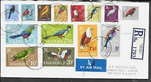 KENYA BIRD SET ON COVER COMPLETE SMALL CREASING