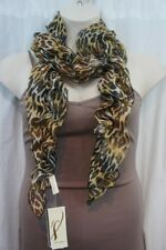 18 Collection Eighteen Scarf Sz OS One Size Desert Buff Animal Print Scarf