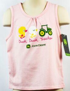 JOHN DEERE Baby Infant Girl Shirts Sleeveless 4T New Authentic DuckTractor