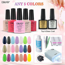 Pick 5 Colors Elite99 Gel Nail Polish Top Base Coat Manicure 36W UV Lamp UK Plug