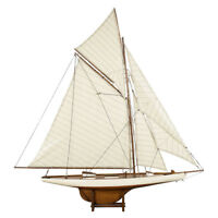 "Columbia America's Cup 1901 J Class Yacht Wooden Model 45"" Sailboat New"