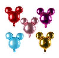 5pcs 24inch Mickey Minnie head Foil Balloon Birthday Party Decor Helium Balloon