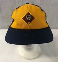 Vintage Boy Scouts Wolf SnapBack Hat Medium-Large Twill Made In USA