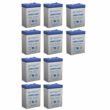 Power-Sonic 10 Pack - 6V 4.5Ah UPS Battery for CSB CP640