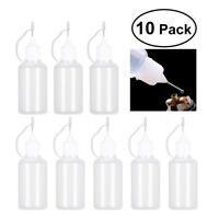 10X10/30ml Smoke Oil Bottle Needle Precision Tip Bottles for Gem and other Glue