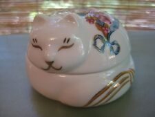 Exclusive Elizabeth Arden Asian-Inspired Cat Candle Holder Made in Japan Ceramic