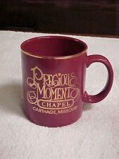 Precious Moments Chapel Burgundy & Gold Coffee Mug / Cup ~ Carthage, Missouri
