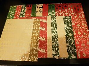 17 Sheets Of Create and Craft Christmas Cardstock