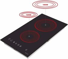 New listing Noxton Ceramic Cooktop Built-in 2 Burners Electric Cooktops Stove Electric Hob C