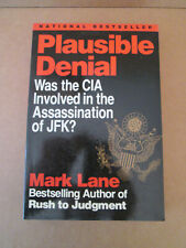 JFK Assassination Mark Lane SIGNED Book 1992 CIA Plot Kennedy Murder Dallas 1963
