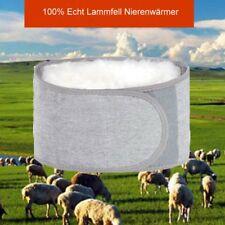 Unisex 100% Echt Lammfell Nierenwärmer Rückenwärmer Leibwärmer Wolle S-L  BC635