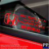 5 x RED- Honda GPS Tracking Device Security Stickers-Civic-Car Alarm Tracker