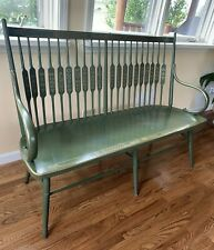 Antique Vintage French Style Wooden Painted Seat Bench