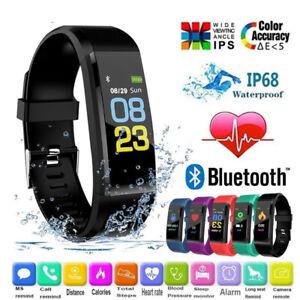 Men Women Smart Watch Heart Rate Blood Pressure Fitness Sport Tracker Waterproof