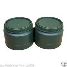 2 Stück 25 Liter grüne Futtertonne Futterfass Vorratstonne Drehdeckel Behälter.