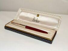 More details for vintage parker 51 de luxe fountain pen - burgundy - nr. mint boxed cond' - c1955