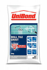 UniBond Kitchen Bathroom Triple Protect Anti-Mould Wall Tile Grout- White - 500g