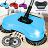 Spin Hand Push Broom Sweeper Household Floor Cleaning Mop No Electricty +Brushes