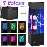 7 Colors Changing LED Jellyfish Lamp Tank Aquarium Relaxing Mood Night Light USA