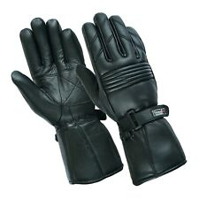 Mens Genuine Leather Motorcycle Motorbike 3M Thermal Thinsulate Gloves Winter