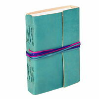 Fair Trade Handmade Leather 3-string Turquoise Leather Journal Notebook Diary