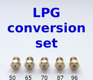 5 Burner Gas Hob LPG Conversion Kit Jets Nozzles Propane Injectors New!!