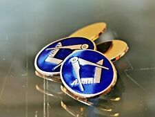 More details for solid gold masonic cufflinks. uk hallmarked 9ct gold.free worldwide shipping #ci