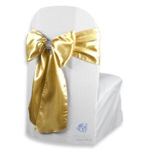 "20 pcs Satin Chair Cover Bow Sash 108""x8"" Wedding Party Banquet Reception"