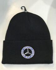 da246d37802 Mercedez Benz Black Hat Embroidered Logo Winter Warm Knit Cap Beanie  Motorsport