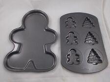 "Wilton Gingerbread Man 12"" & Mini w/ Tree Pan Lot"