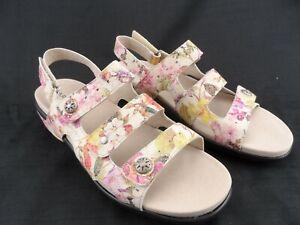Aravon by New Balance Floral Triple Strap Slingback Sandals Womens Size 11B CUTE