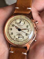 Reloj para hombres con Cronógrafo vintage Orfina Venus 170 36,3mm Enchapado En Oro Hecho En Suiza