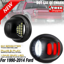 For 1990-2014 Ford F150 [RED STRIP] LED SMD License Plate Light Bulb Red Neon 2X