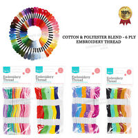 12 x Mix Colors Cotton Sewing Skeins Cross Stitch Embroidery Thread Floss Kit