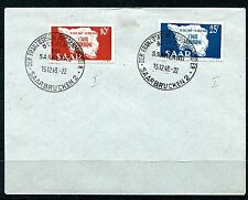 GERMANY SAAR 1948 SCOTT 201-202 MAP OF SAAR LOVEY BLANCO FIRST DAY COVER