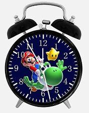 "Super Mario Yoshi Alarm Desk Clock 3.75"" Room Office Decor W15 Nice For Gift"