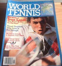 'World Tennis' US Tennis Magazine - January 1983 - Ivan Lendl