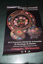 7.- TIANGUIS ARTESANAL vintage ad poster cartel URUAPAN MICHOACAN Decorative
