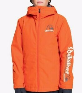 BRAND NEW BOYS QUIKSILVER IN THE HOOD SNOWBOARD SKI JACKET, AGE 12
