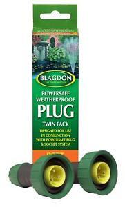 Blagdon Powersafe Weatherproof Plug Twin Pack BUY 1 GET 1 FREE
