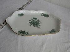 Rosenthal Sanssouci weiss/ grüne Blume Servier Platte 33,5 x 21,5 cm Relief, Top