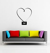 Wall Sticker Retro Music Retro Hearts Romantic for Living Room  z1260
