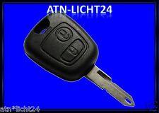 Schlüssel Reparatur Rohling Gehäuse 2 Tasten Tastenfeld Peugeot 206 207 307 407
