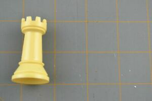 Whitman Chess Castle Rook Piece White Vintage Plastic Hollow Replacement Part