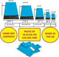 Blue Postal Packaging Bags Plastic Parcel Mailing Packing Envelopes Polythene
