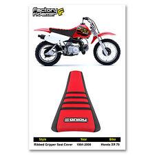 1994-2000 HONDA XR 70 Black/Red/Black RIBBED SEAT COVER BY Enjoy MFG