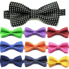 Cool Children Boys Solid Color Polka Dot Bow Tie Butterfly Wedding Party Necktie